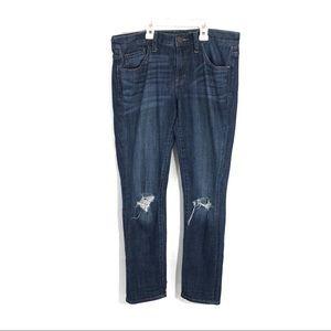 Treasure & Bond Distressed boyfriend ankle jeans